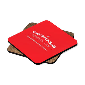 Comfort Crusade Square Hardboard Coaster Set - 4pcs (Red) - The Comfort Crusade Shopping Lounge