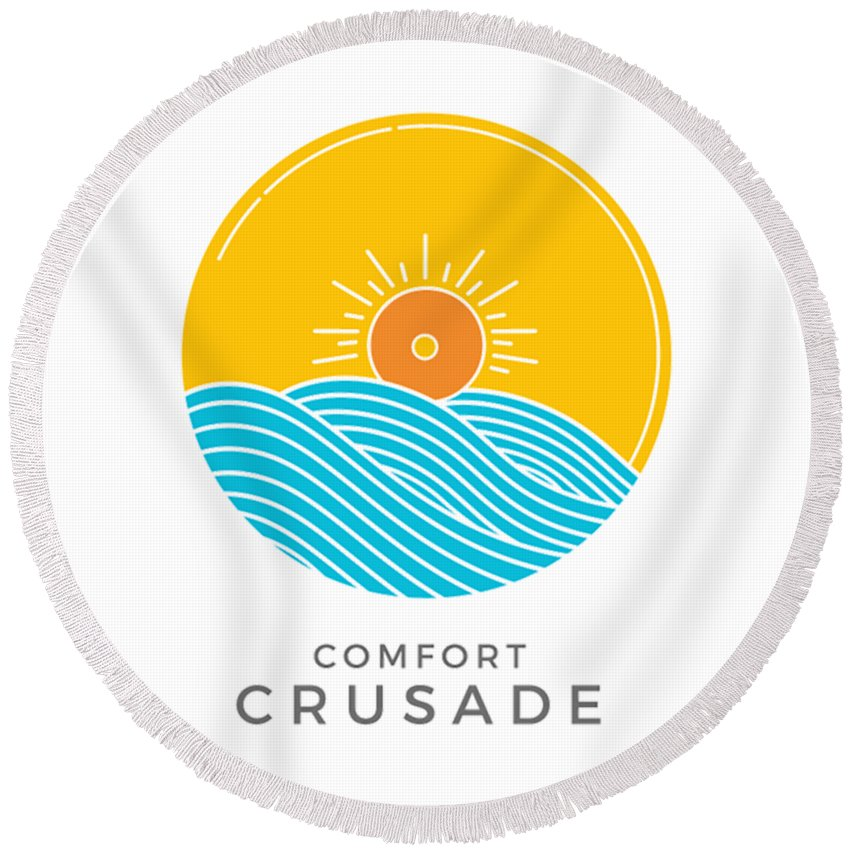 Comfort Crusade Logo - Round Beach Towel - The Comfort Crusade Shopping Lounge