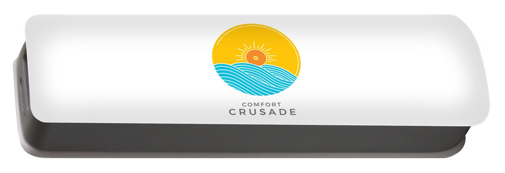 Chill, Relax, Enjoy. Comfort Crusade - Portable Battery Charger - The Comfort Crusade Shopping Lounge