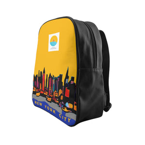 Comfort Crusade NY Sky Yellow Backpack - The Comfort Crusade Shopping Lounge