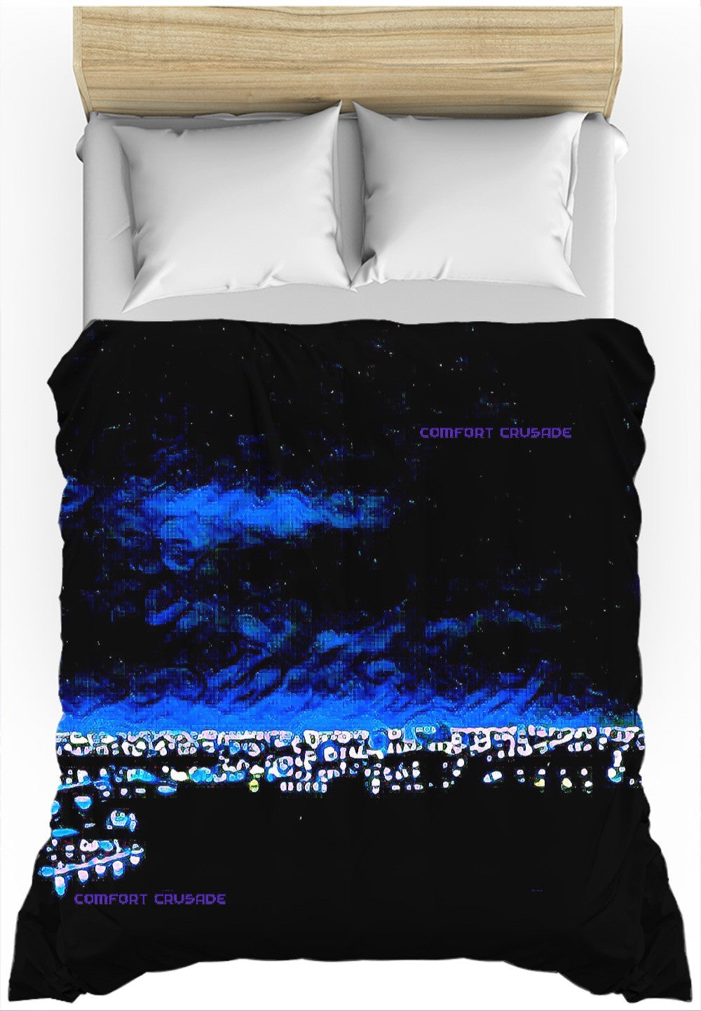 Comfort Crusade Rooftop Series - Blue Luxe Duvet Cover - The Comfort Crusade Shopping Lounge