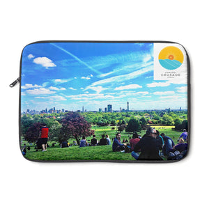 Comfort Crusade Primrose Hill Summer Laptop Sleeve by Annabel Benson - The Comfort Crusade Shopping Lounge