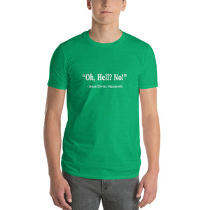 Punday Brunch - Unfamous Quotes - Oh Hell No Men's Comfy Tee - The Comfort Crusade Shopping Lounge