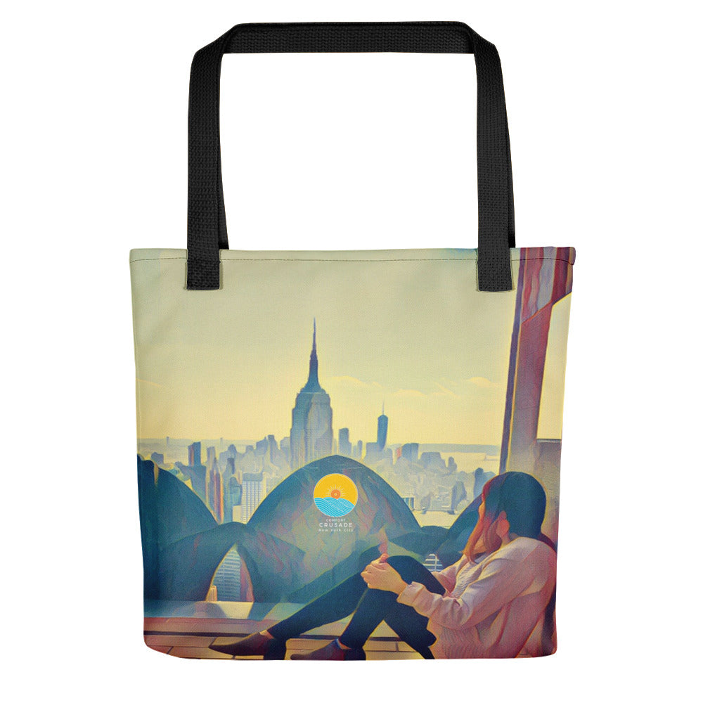 Comfort Crusade Chill Mode NYC Tote Bag by Xiomary Perez - The Comfort Crusade Shopping Lounge