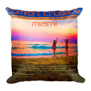 Super Comfy Miami Throw Pillow by @ClauNine - The Comfort Crusade Shopping Lounge