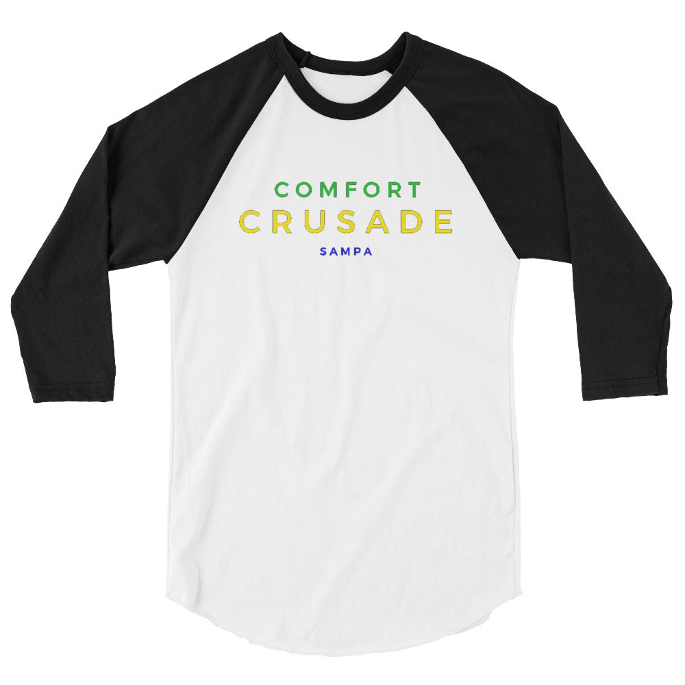 Comfort Crusade by Greg Graham 3/4 Sleeve Raglan Shirt - The Comfort Crusade Shopping Lounge