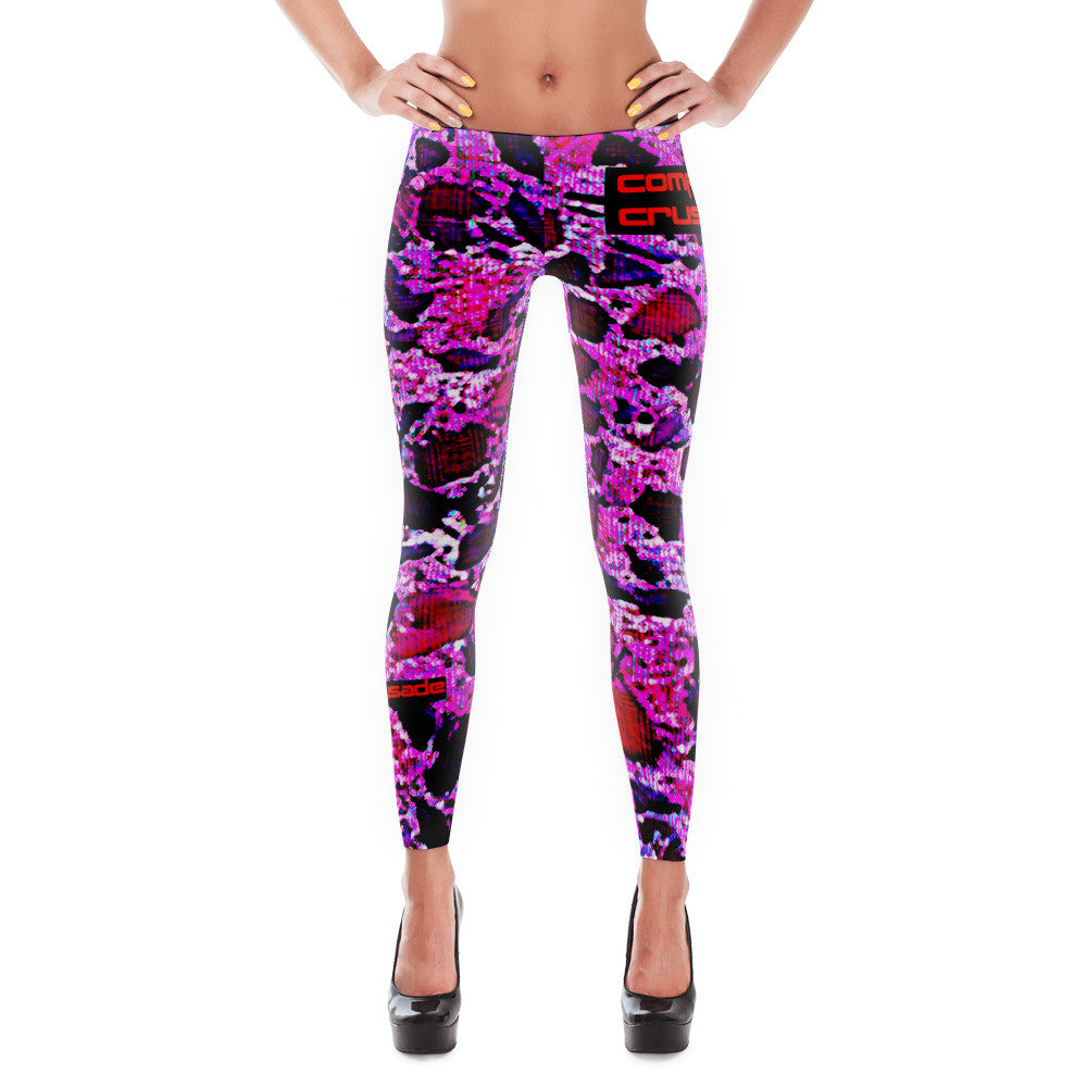 Comfort Crusade Strawberry Smoothie Leggings - The Comfort Crusade Shopping Lounge