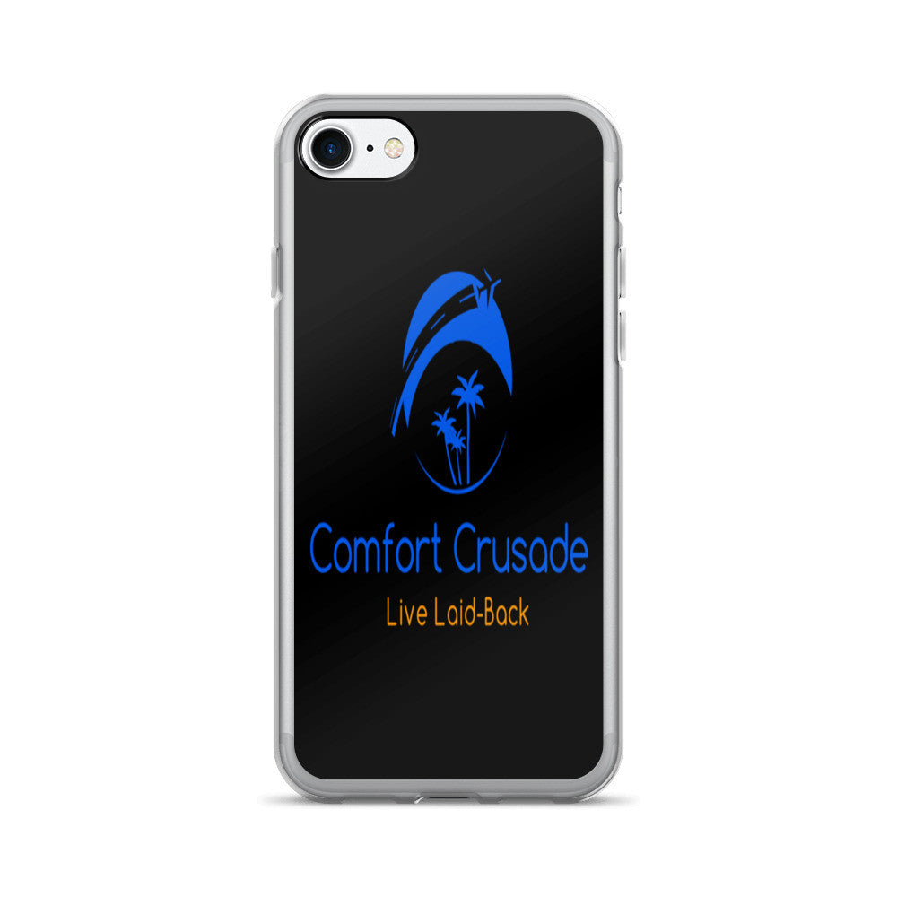 Comfort Crusade Laid-Back iPhone 7/7 Plus Case Black - The Comfort Crusade Shopping Lounge