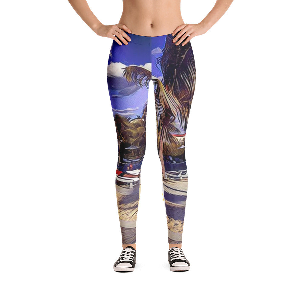 Comfort Crusade Miami Poolside Leggings - The Comfort Crusade Shopping Lounge