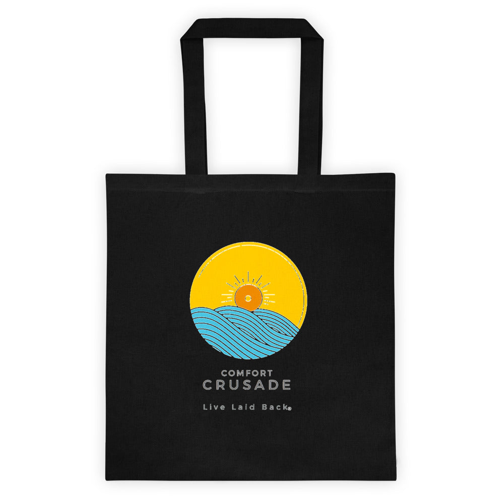 Comfort Crusade  Live Laid Back® Tote Bag (Transparent Logo) - The Comfort Crusade Shopping Lounge
