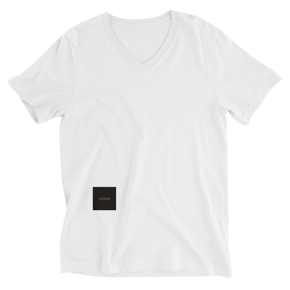 Comfort Crusade by Greg Graham Short Sleeve V-Neck T-Shirt (White) - The Comfort Crusade Shopping Lounge