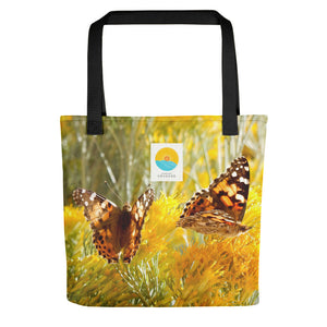 Comfort Crusade Social Butterfly Tote Bag by Janelle Kaalund - The Comfort Crusade Shopping Lounge