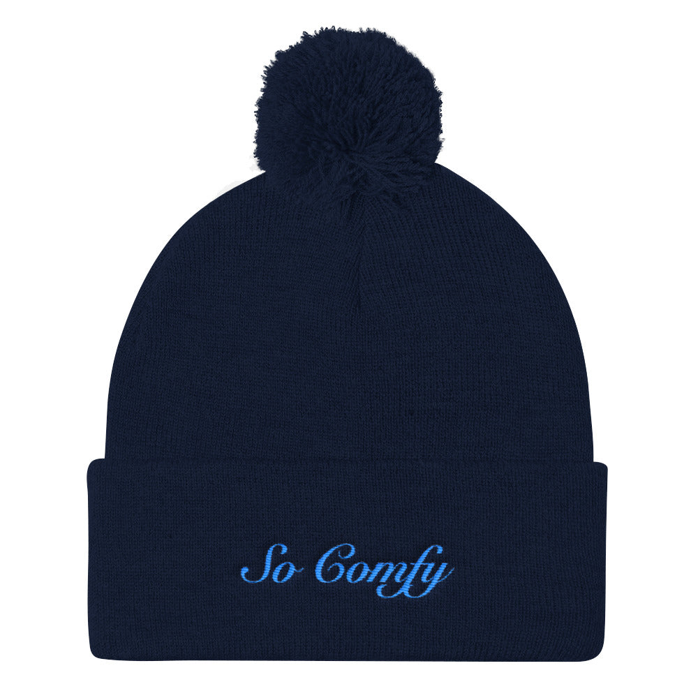 "Comfort Crusade ""So Comfy"" Pom Pom Knit Cap - The Comfort Crusade Shopping Lounge"