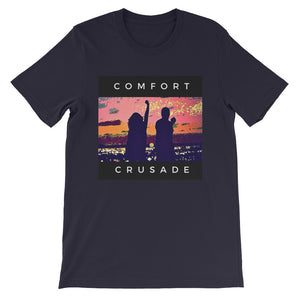 Comfort Crusade Island Twilight Rooftop Short-Sleeve Unisex T-Shirt - The Comfort Crusade Shopping Lounge