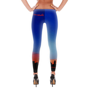 Comfort Crusade City Sunrise Superhero(ine) Leggings - The Comfort Crusade Shopping Lounge