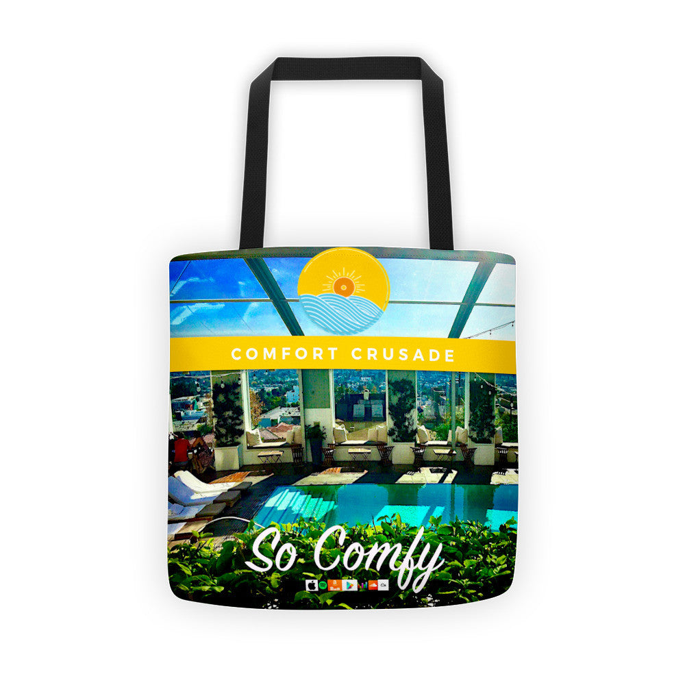 "Comfort Crusade ""So Comfy"" Album Art Tote Bag - The Comfort Crusade Shopping Lounge"