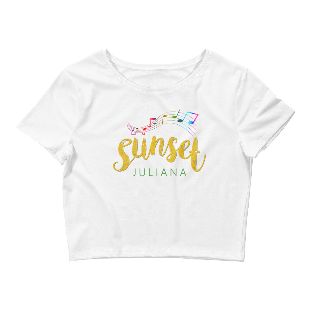 Sunset by Juliana Women's Crop Tee Designed by Comfort Crusade - The Comfort Crusade Shopping Lounge