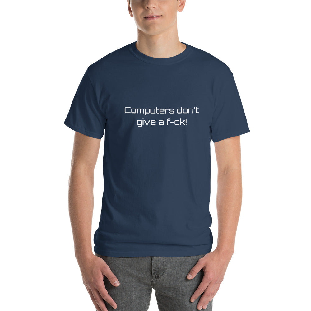 Punday Brunch - Computers Don't Give A F-ck! Men's Comfy Tee - The Comfort Crusade Shopping Lounge