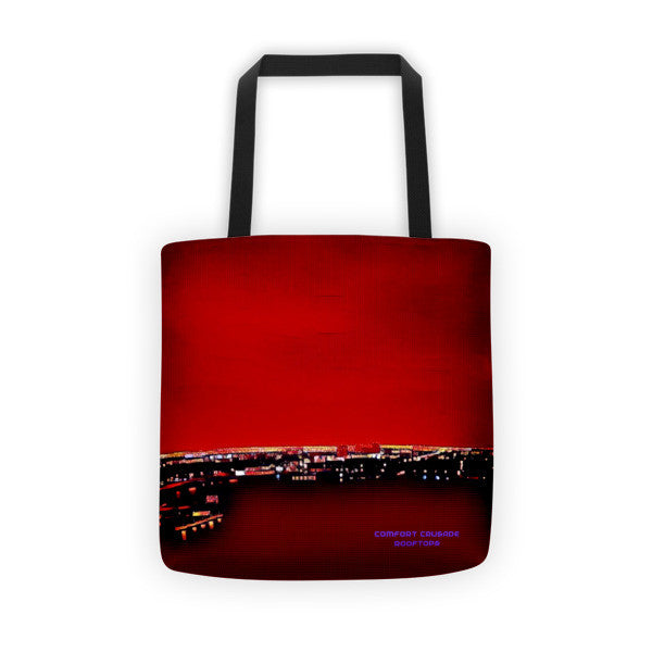 Comfort Crusade Rooftop Series - Red Biscayne Tote bag - The Comfort Crusade Shopping Lounge