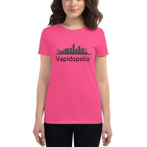 Punday Brunch - Vapidopolis Women's Fashion Fit Tee blk - The Comfort Crusade Shopping Lounge