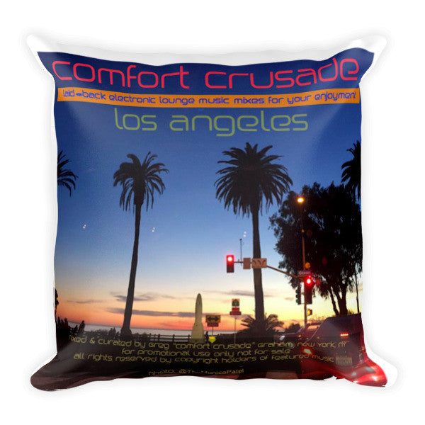Super Comfy LA Throw Pillow by Monica Patel - The Comfort Crusade Shopping Lounge