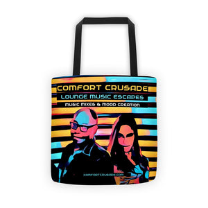 Comfort Crusade Lounge Music Escapes Tote bag - The Comfort Crusade Shopping Lounge