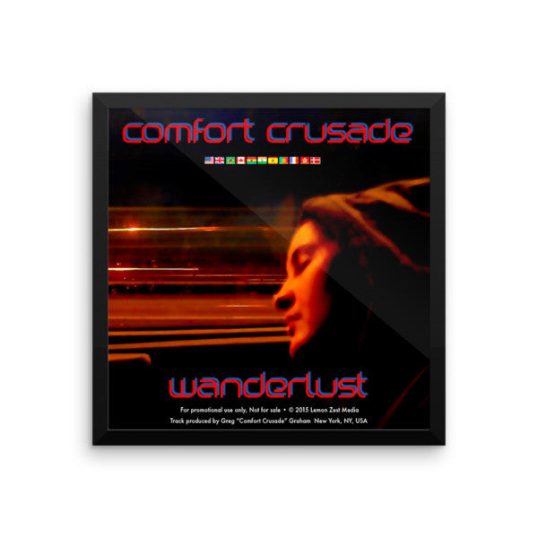 "Comfort Crusade Framed ""Wanderlust"" Artwork by Jenna Mabry on Premium Photo Paper - The Comfort Crusade Shopping Lounge"