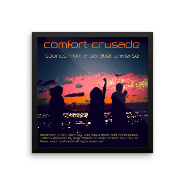 Sounds From A Parallel Universe Framed Album Artwork on Premium Photo Paper - The Comfort Crusade Shopping Lounge