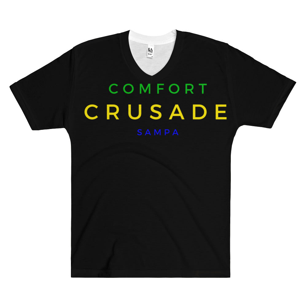 Comfort Crusade by Greg Graham Sampa Men's V-Neck T-Shirt - The Comfort Crusade Shopping Lounge