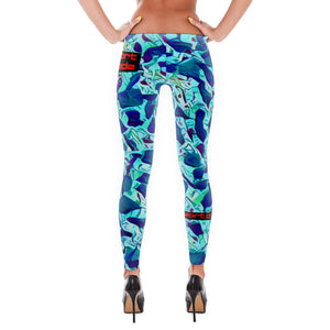 Comfort Crusade Blue Confetti Leggings - The Comfort Crusade Shopping Lounge