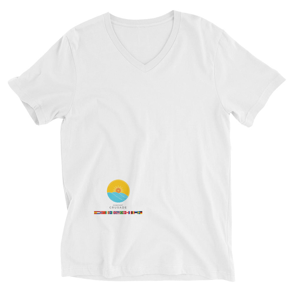 Comfort Crusade Countries Short Sleeve V-Neck T-Shirt - The Comfort Crusade Shopping Lounge