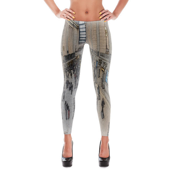 Comfort Crusade Scanned Central Station Leggings - The Comfort Crusade Shopping Lounge