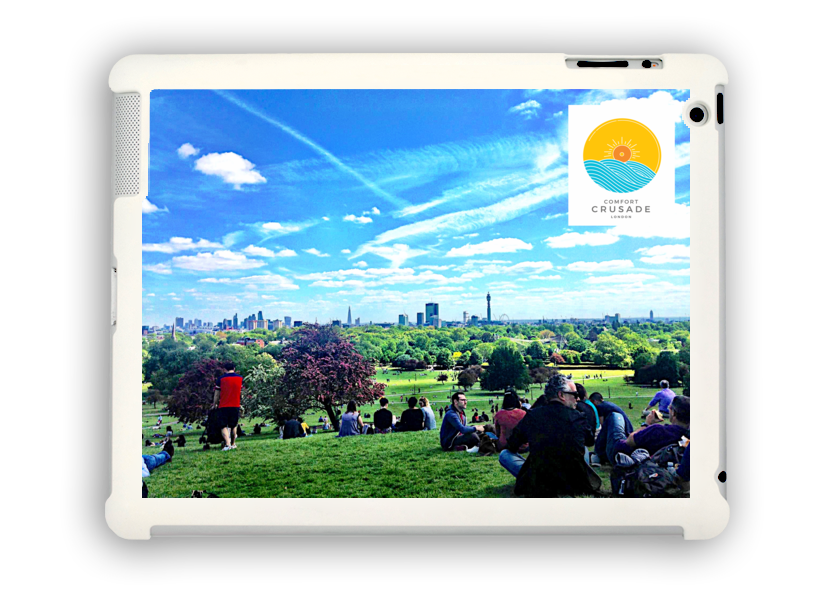 Primrose Hill Summer iPad Case by Lucy Annabel - The Comfort Crusade Shopping Lounge