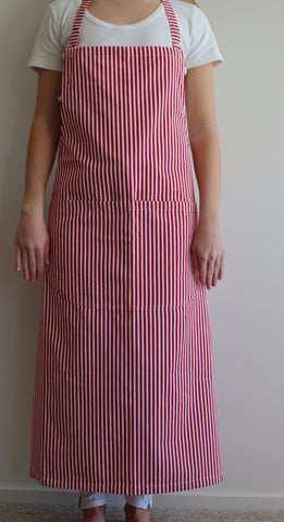 Red & White Stripe Apron