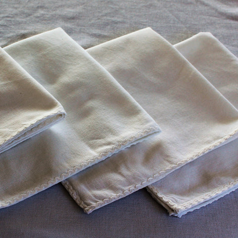 White Cotton Napkins