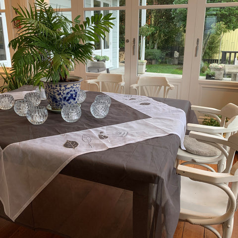 Grey & White set Tablecloth