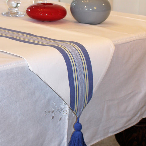 Linea Blue Table Runner