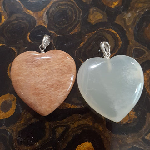 Pendant | Heart | Moonstone | Variants  | Carpe Diem with Remi