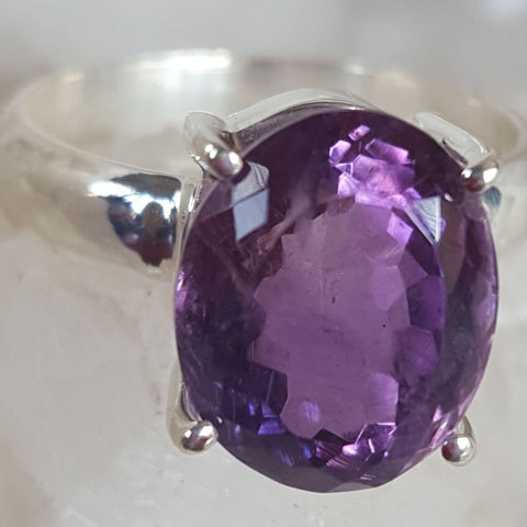 Ring | Amethyst | Facet | Gem Quality | Size 8 | Carpe Diem with Remi