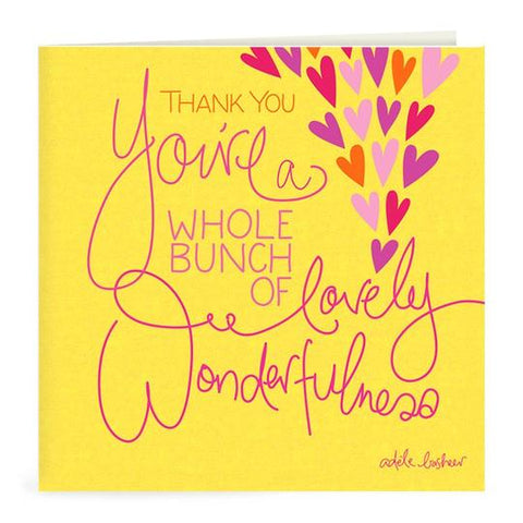 Thank You Wonderfulness Greeting Card | Carpe Diem With Remi