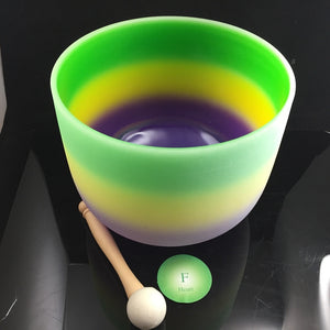 "Crystal Singing Bowl Heart  F Rainbow 10"" 432hz - Carpe Diem With Remi"