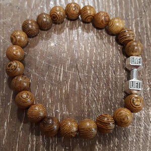 Bracelet Wood Beads | Carpe Diem with Remi