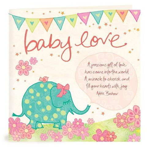 Baby Girl Greeting Card | Carpe Diem with Remi