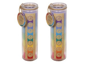 Candle Chakra and Luck Large Glass | Carpe Diem With Remi