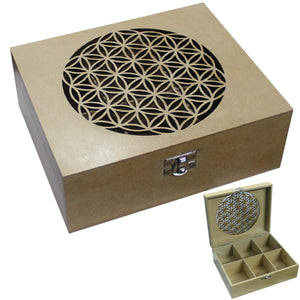 Box Engraved Flower Of Life | Carpe Diem With Remi