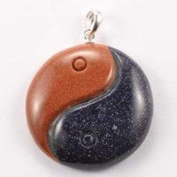 Pendant | Yin Yang | Goldstone | Carpe Diem with Remi