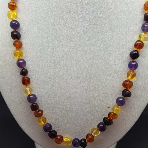 Necklace | Amber | Amethyst | 45 cm | Carpe Diem with Remi