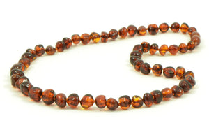 Necklace Amber Dark Cognac Adult  45 cm | Carpe Diem with Remi