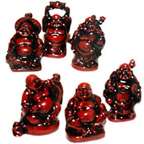 Standing Laughing Buddha Statue Brown | 5.7 cm | Carpe Diem with Remi