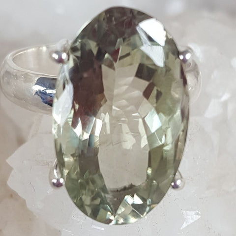 Ring | Green Amethyst | Faceted | Size 8 | Carpe Diem with Remi